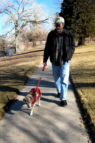 John and Rosie Walking.JPG