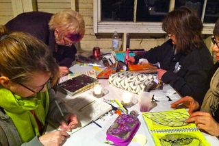 Artfest 11 beach journaling